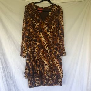 Emanuel Ungaro Parallele Animal Print Dress